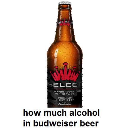 how much alcohol in budweiser beer