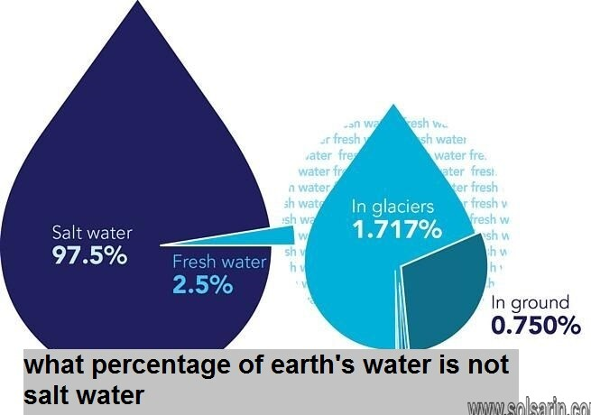 what percentage of earth's water is not salt water