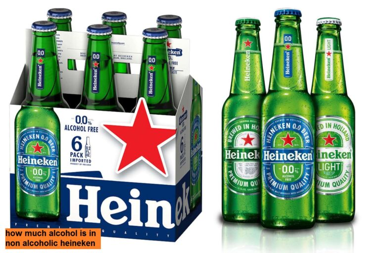 how much alcohol is in non alcoholic heineken