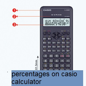 how to work out percentages on casio calculator