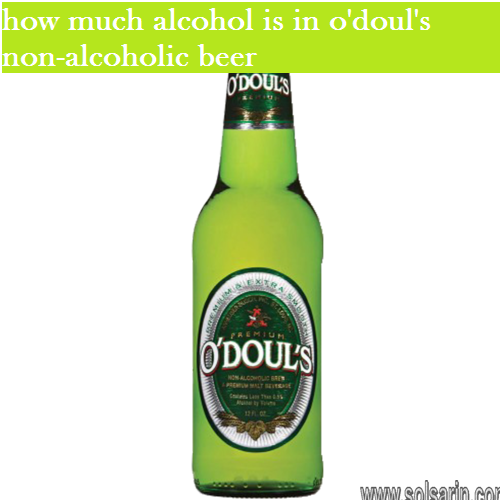 how much alcohol is in o'doul's non-alcoholic beer
