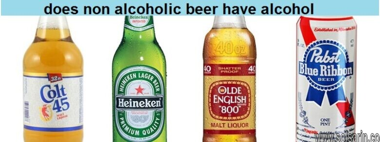 does non alcoholic beer have alcohol