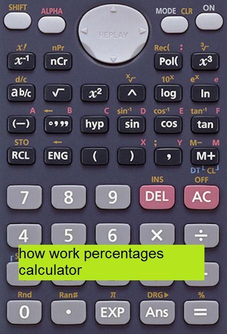 how work percentages calculator