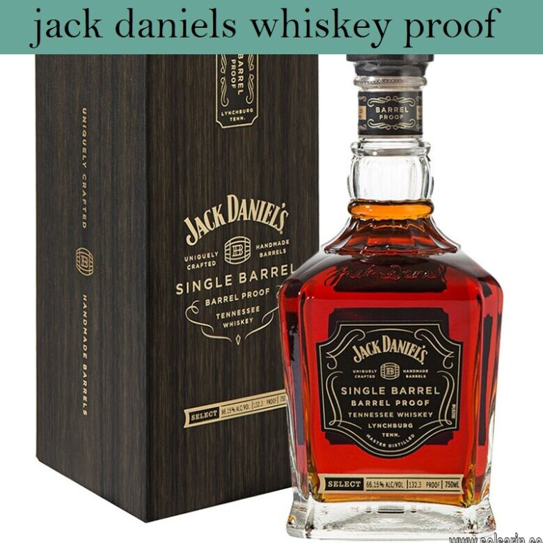 jack daniels whiskey proof