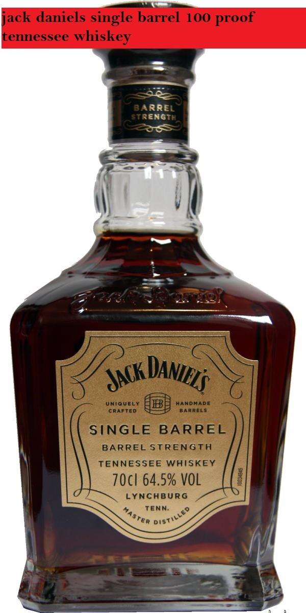 jack daniels single barrel 100 proof tennessee whiskey