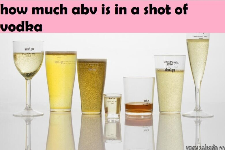 how much abv is in a shot of vodka