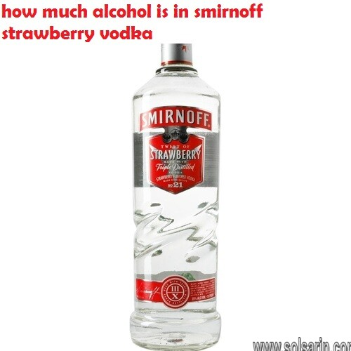 how much alcohol is in smirnoff strawberry vodka
