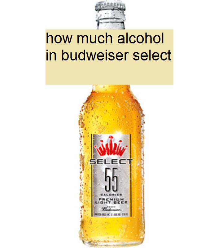 how much alcohol in budweiser select