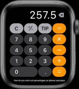 how do you work out percentages on iphone calculator