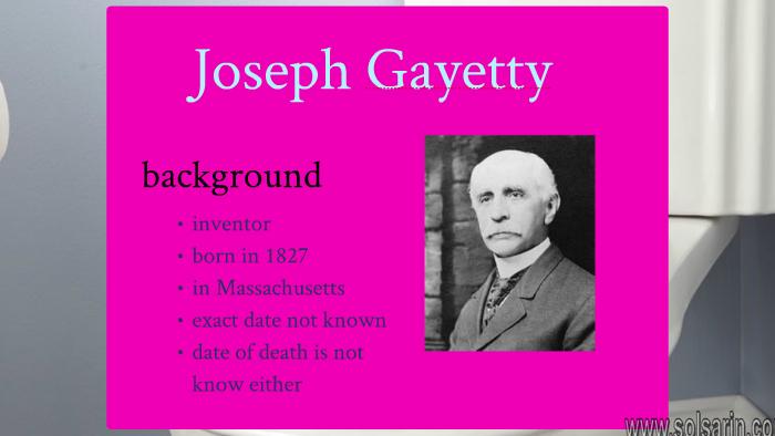 what did joseph c. gayetty invent?