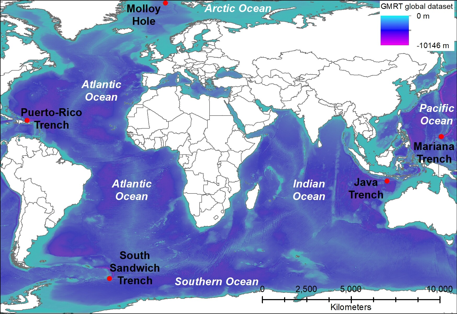 what is the deepest point in the arctic ocean?