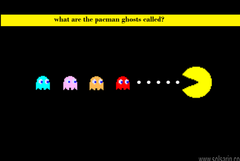 what are the pacman ghosts called?