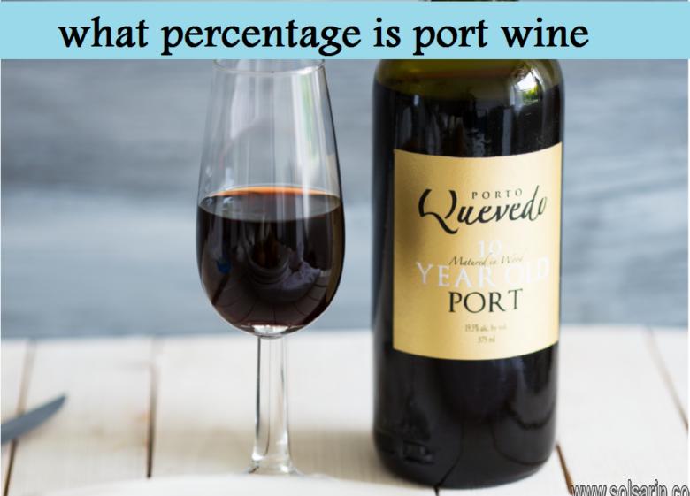 what percentage is port wine