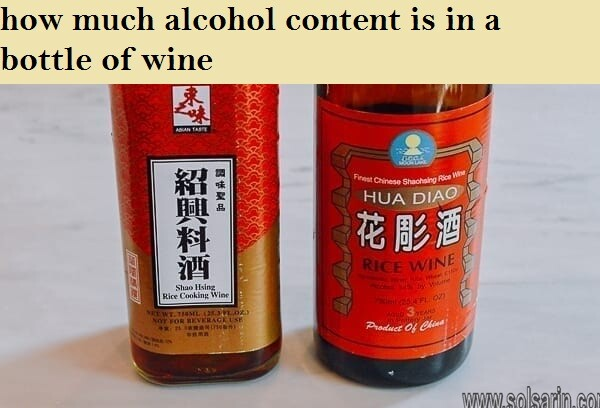 how much alcohol content is in a bottle of wine