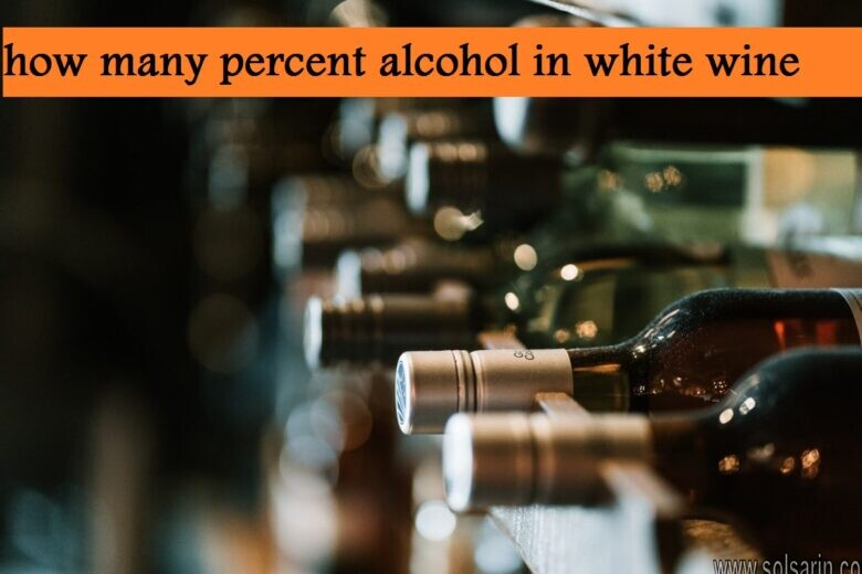 how many percent alcohol in white wine