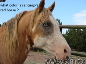 what color is santiago's red horse ?