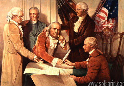 picture of george washington signing the declaration of independence