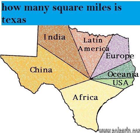how many square miles is texas
