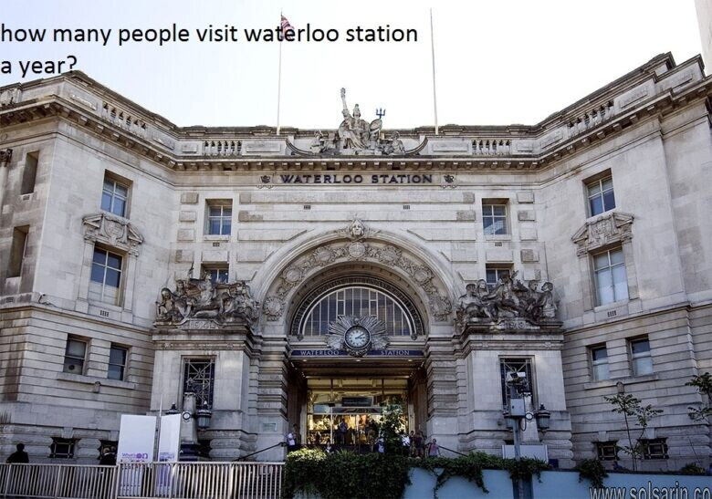 how many people visit waterloo station a year?