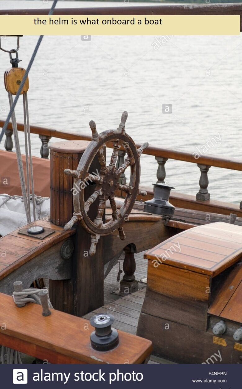 the helm is what onboard a boat