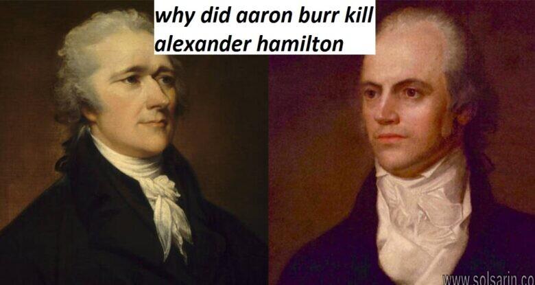 why did aaron burr kill alexander hamilton