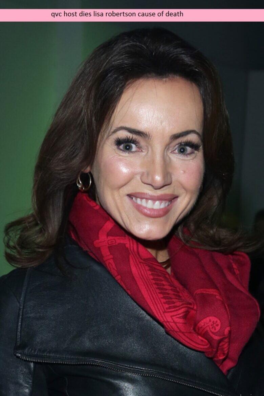 qvc host dies lisa robertson cause of death