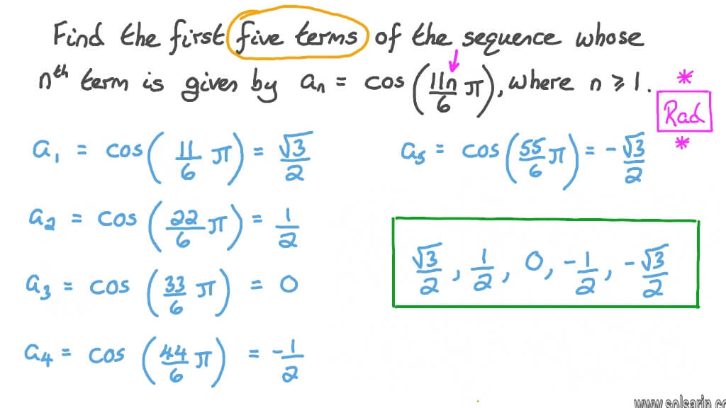 a mathematical sequence whose verb is equal