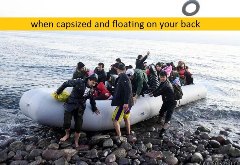 when capsized and floating on your back
