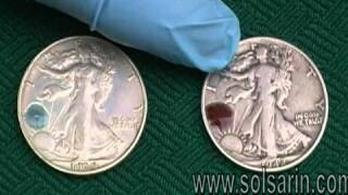 how to test silver with an eraser