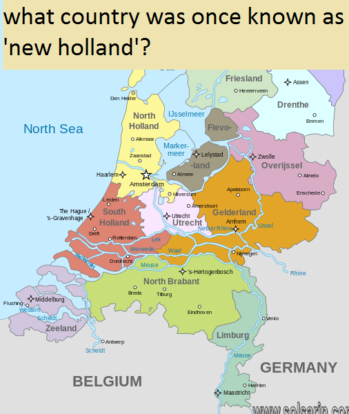 what country was once known as 'new holland'?