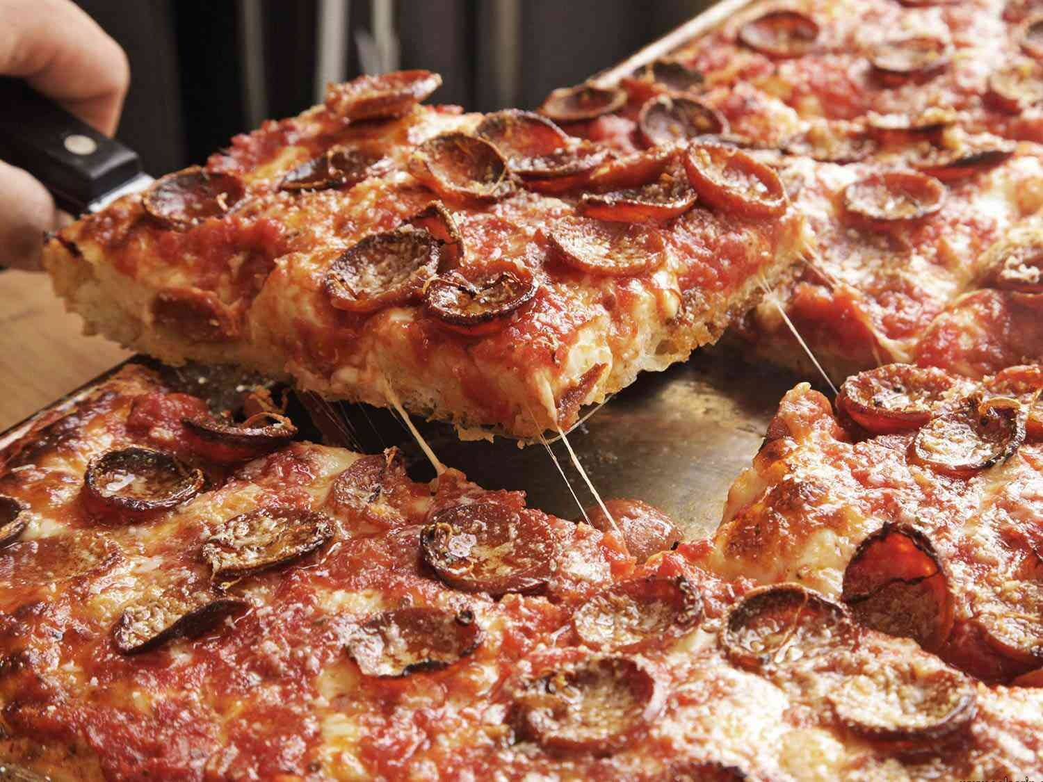 how many slices in sheet pizza