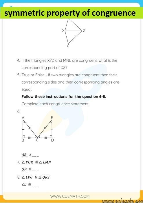 symmetric property of congruence
