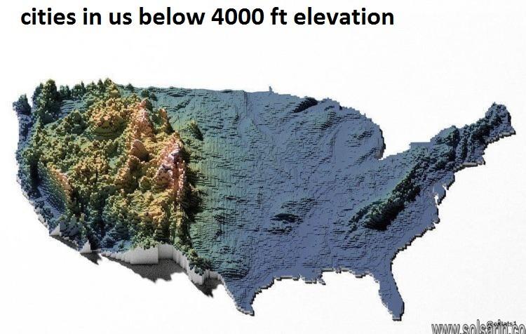 cities in us below 4000 ft elevation