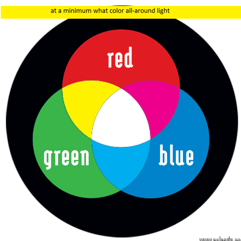 at a minimum what color all-around light